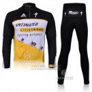 Men's Specialized RBX Comp Cycling Jersey Long Sleeve Bib Tight 2011 Black White Yellow