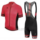 Men's Specialized SL Elite Cycling Jersey Bib Short 2018 Red Black