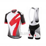 Men's Specialized RBX Comp Cycling Jersey Bib Short 2016 Red White Black