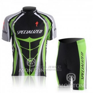 Men's Specialized RBX Comp Cycling Jersey Bib Short 2010 Black Green