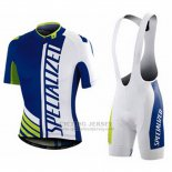 Men's Specialized RBX Sport Cycling Jersey Bib Short 2016 Maglia Specialized Blu E Bianco