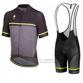 Men s Specialized SL Expert Cycling Jersey Bib Short 2018 Black Grey Green 65024f218