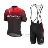 Men's Specialized SL Expert Cycling Jersey Bib Short 2018 Red Black