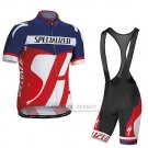 Men's Specialized RBX Sport Cycling Jersey Bib Short 2016 Deep Blue Red