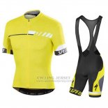 Men's Specialized SL Elite Cycling Jersey Bib Short 2015 Yellow Black