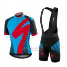 Men's Specialized RBX Comp Cycling Jersey Bib Short 2016 Blue Red Black