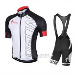 Men's Specialized SL Pro Cycling Jersey Bib Short 2015 Black White