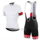 Men's Specialized RBX Pro Cycling Jersey Bib Short 2016 White
