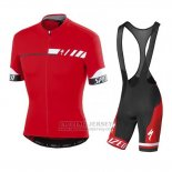 Men's Specialized SL Elite Cycling Jersey Bib Short 2015 Red White