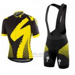 Men's Specialized RBX Comp Cycling Jersey Bib Short 2016 Black Yellow