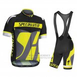 Men's Specialized RBX Sport Cycling Jersey Bib Short 2016 Black Yellow