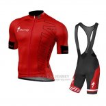 Men's Specialized SL Pro Cycling Jersey Bib Short 2015 Red